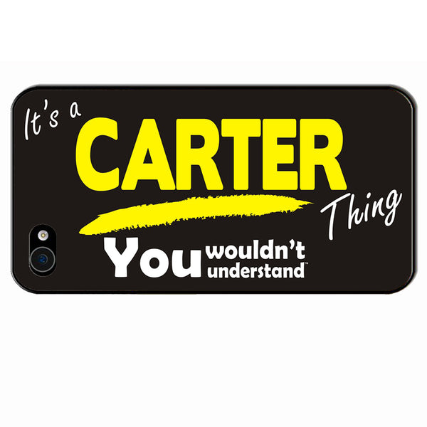 Its A Carter Surname Thing iPhone Cover - All Models