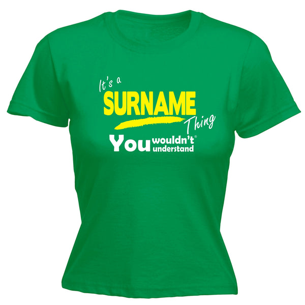 Custom Surname Thing You Wouldn't Understand Fitted T-Shirt