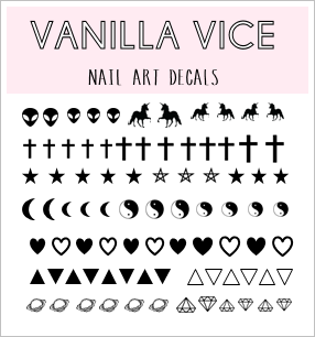 DARKSIDE - Nail Art Water Decals - Vanilla Vice