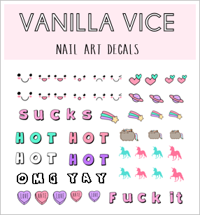 TUMBLR - Nail Art Water Decals - Vanilla Vice