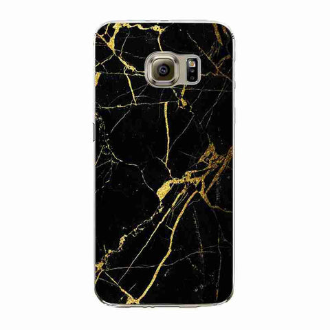 BLACK AND GOLD MARBLE - Soft Phone Case - Vanilla Vice