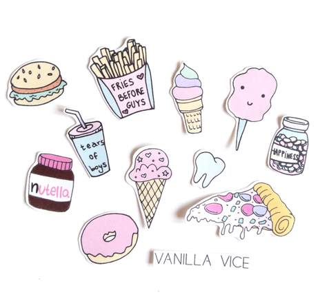 JUNK FOOD - Stickers - Vanilla Vice