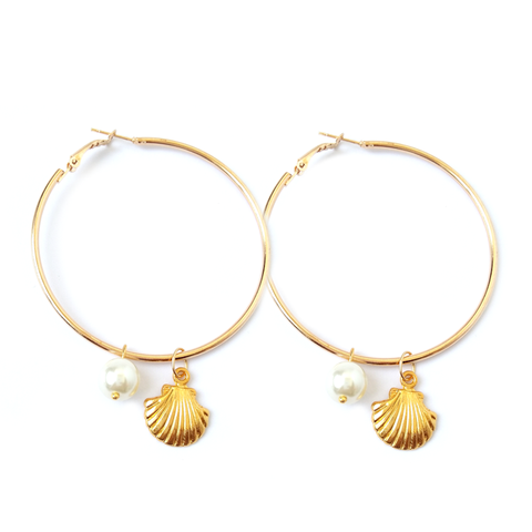 MERMAID -  Hoop Earrings - Vanilla Vice