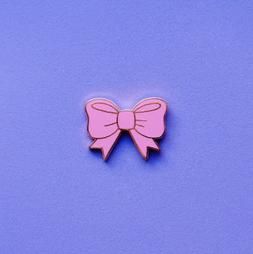 CUTE PINK BOW - Pin