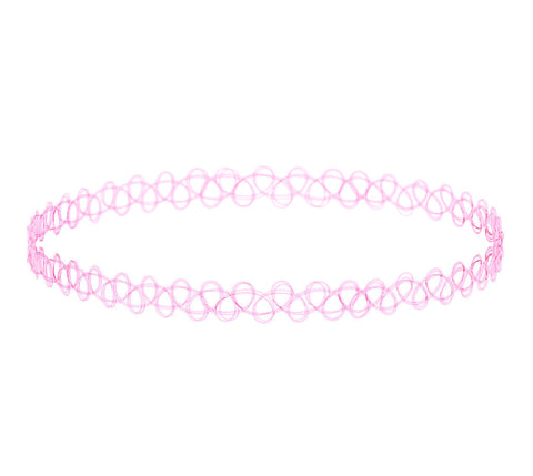 AS IF BABY PINK - Tattoo Choker - Vanilla Vice