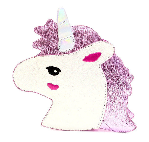 PINK GLITTER UNICORN - Cross Body Bag