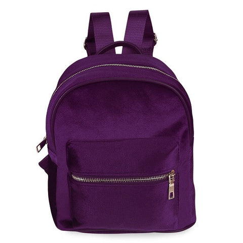 PURPLE VELVET - Mini Backpack