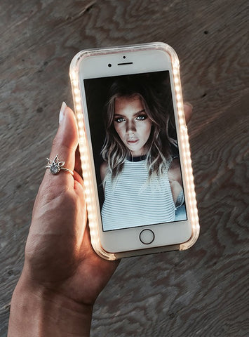 SELFIE QUEEN - Gold Illuminated iPhone Case