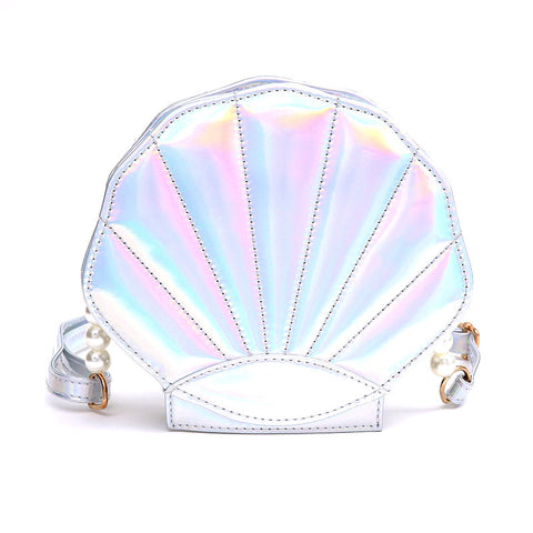 MERMAID SHELL - Holographic Cross-Body Bag