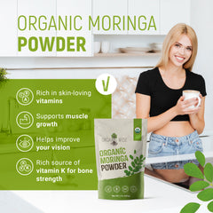 Organic Moringa Oleifera Leaf Powder -1lb By Organic Wise