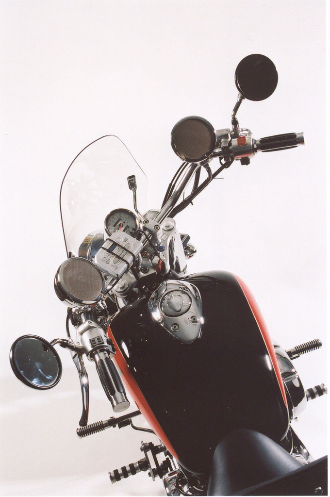 The Original Rumble Road LIMITED Non-Amplified Speaker Kit for Motorcycles Chrome with Matching 1-1//2 Clamps