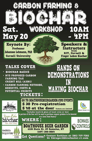 Carbon Farming and Biochar Workshop Flyer