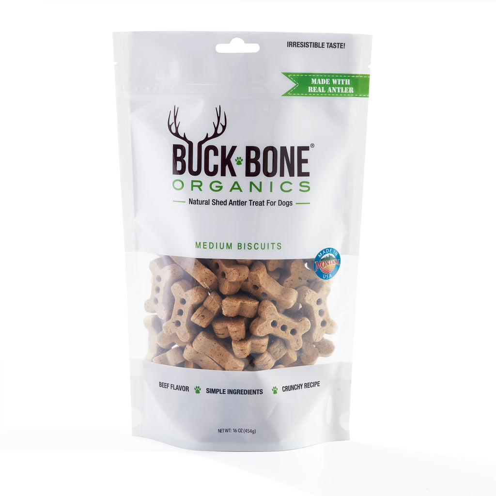 Buck Bone Organics Antler Dog Biscuits, Made with Real Antler 16 oz