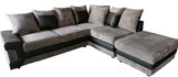 Left Hand Facing Sectional with Ottoman