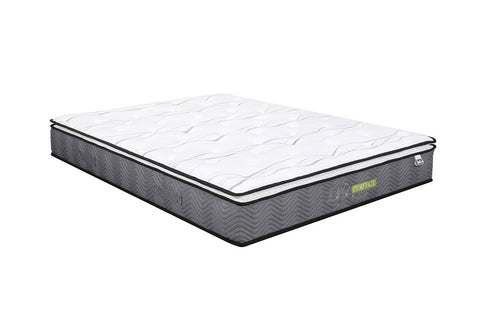 Life Perfect Sleep Pocket Coil with Pillow Top Mattress in a Queen