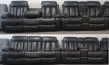 The Devon Collection Sofa and Love Seat in a Black Air Leather