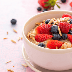 Oatmeal bowl with added protein