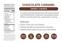 Load image into Gallery viewer, Chocolate Caramel Protein Crisps