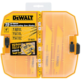 DEWALT DW4890 15-Piece Reciprocating Saw Blade Tough Case Set
