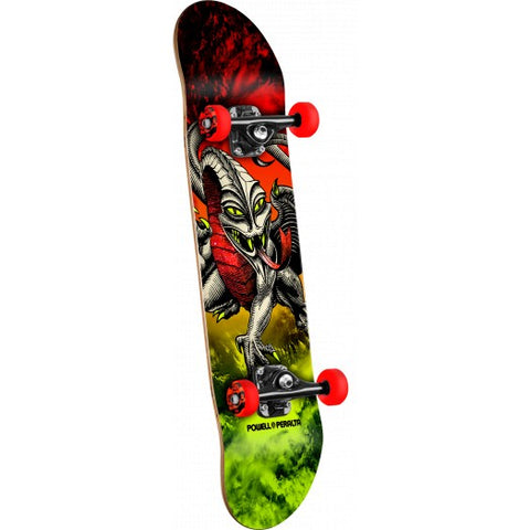 Powell Peralta Cab Dragon Storm Complete Skateboard Red/Lime - 7.75 x 31.75