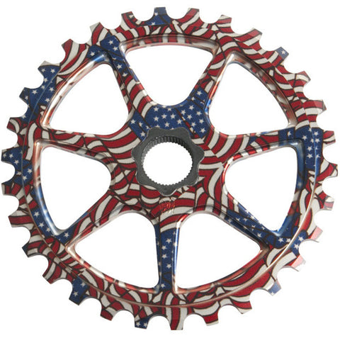 S&M L7 Spline Drive Sprocket 30t USA FLAG