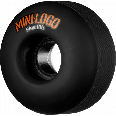 MINI LOGO WHEEL C-CUT 54MM 101A BLACK 4PK