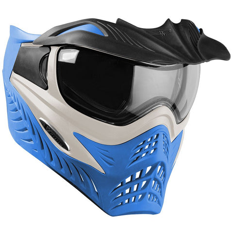 V-FORCE GRILL MASK silver on blue