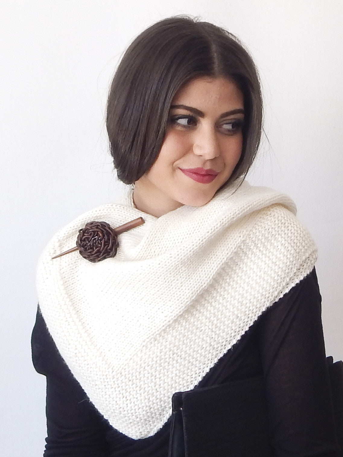 The Felicity Wrap with Shawl pin