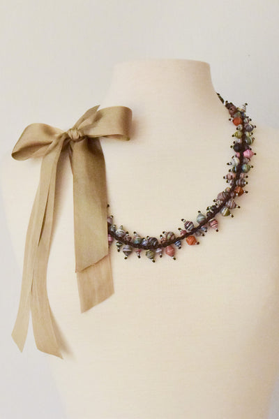 """Paper Pearls"" Necklace"