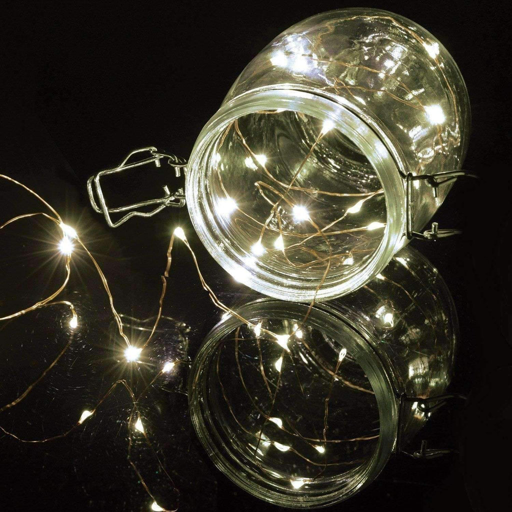 2 XCopper Wire LED String Lights 5.9m (Cool White)
