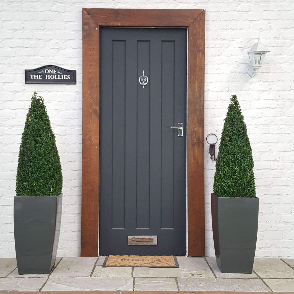 Two Buxus Cone Planters 4-5ft (Inc Choice of Luxury Planters)