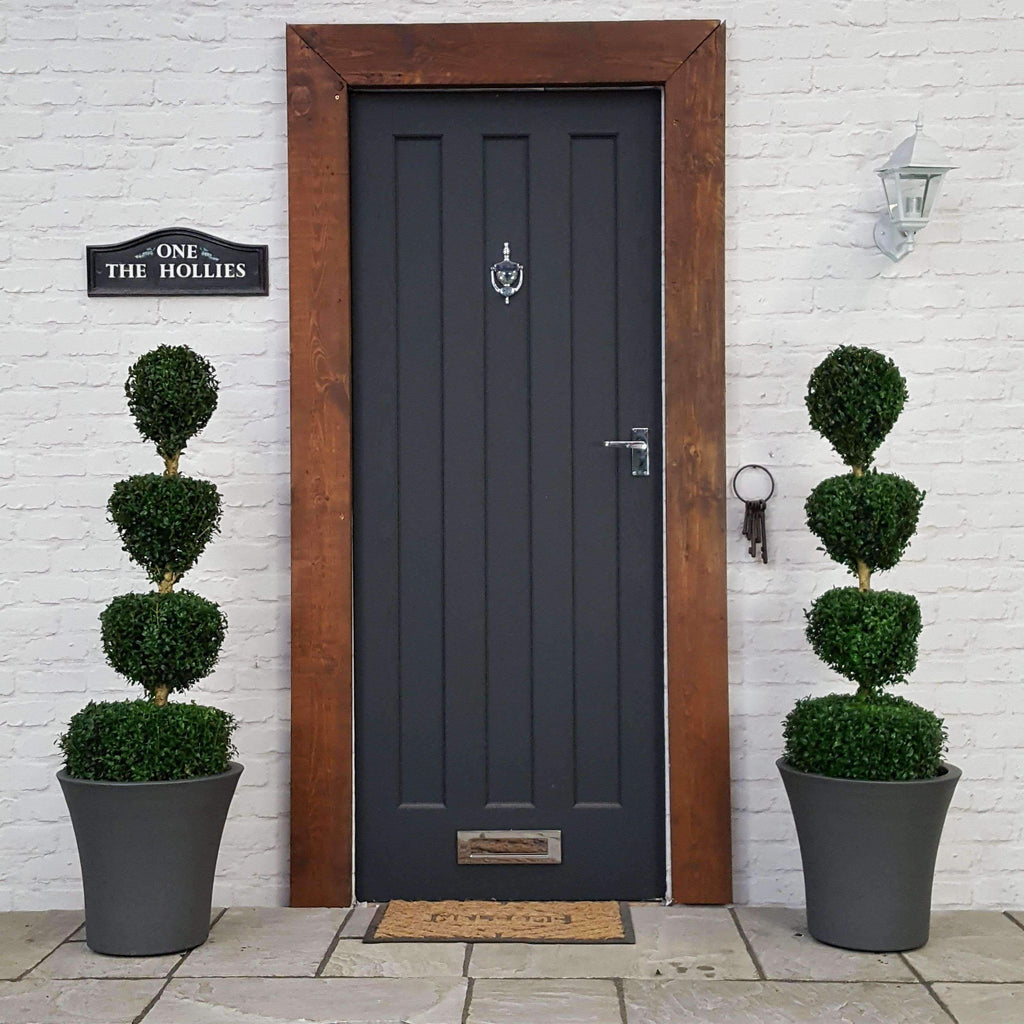 TWO Buxus 4 Ball Quad Inc Choice of Luxury Planter (Complete)