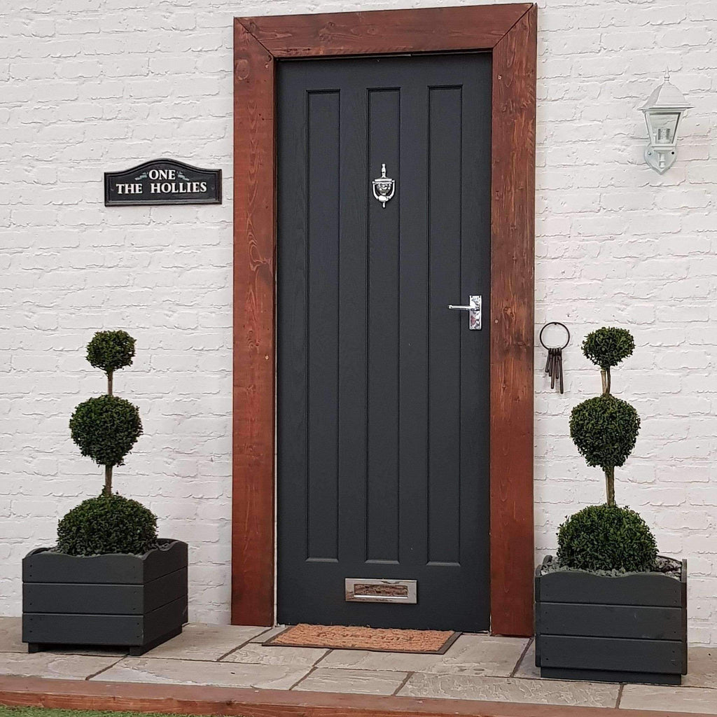 TWO Buxus Ball Triple Planter Set (Inc Choice of Luxury Planter)
