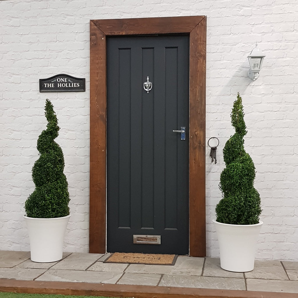 TWO Buxus Cone Spiral 5ft Including Choice Of Luxury Planters