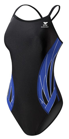 TYR Phoenix Splice Diamondfit Swimsuit Black/Blue