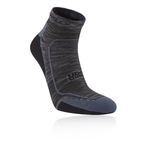 Hilly Lite Comfort Socklet Mens Charcoal/Black