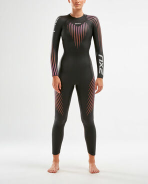 2XU P:1 Propel 2020 Wetsuit Womens Black/Sunset Ombre