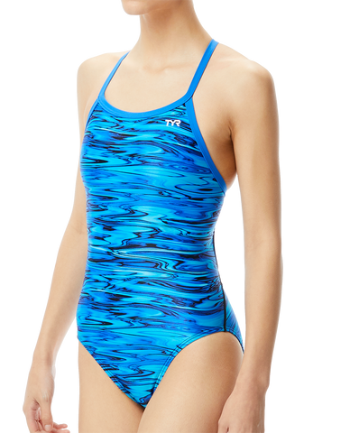 TYR Hydra Diamondfit Performance Swimsuit Blue