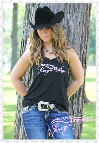 Cowgirl Dreams Co. Logo Racerback Tank