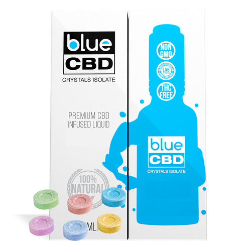 Tangy Sugar Buttons Flavor Blue CBD Crystal Isolate