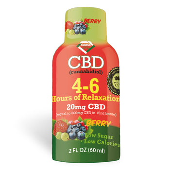 4-6 Hours of Relaxation Diamond CBD Shot 20mg (60ml) - Berry