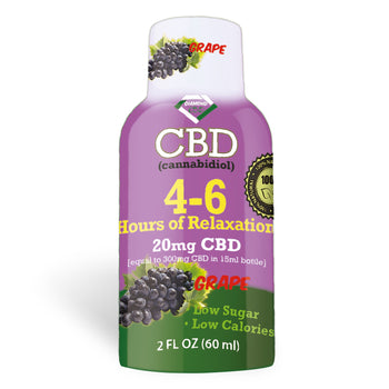 4-6 Hours of Relaxation Diamond CBD Shot 20mg (60ml) - Grape