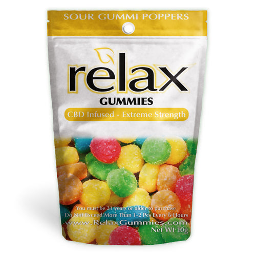 Relax Gummies - CBD Infused Poppers [Edible Candy]