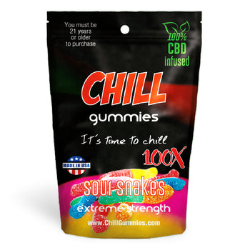 Chill Gummies - CBD Infused Sour Snakes [Edible Candy]