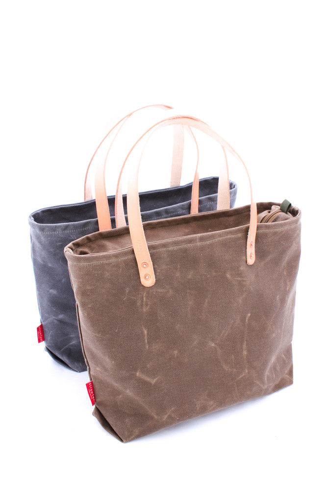 Tote Bag: Waxed Canvas Zip-Top