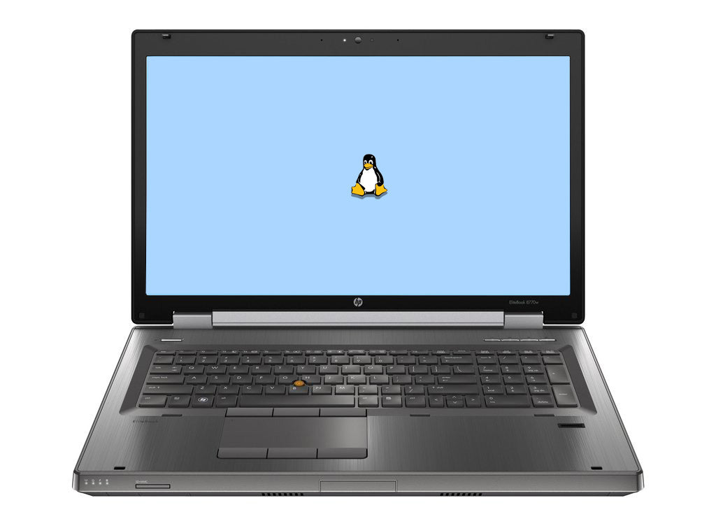 "HP Elitebook 8770W 17"" (2.8GHz i5, 8GB, 500GB HDD) Linux"