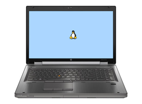 "HP Elitebook 8770W 17"" (2.8GHz i5, 8GB, 256GB SSD) Linux"