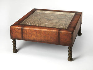 Vasco Old World Map Clock Cocktail Table by Butler Specialty Company 0286070