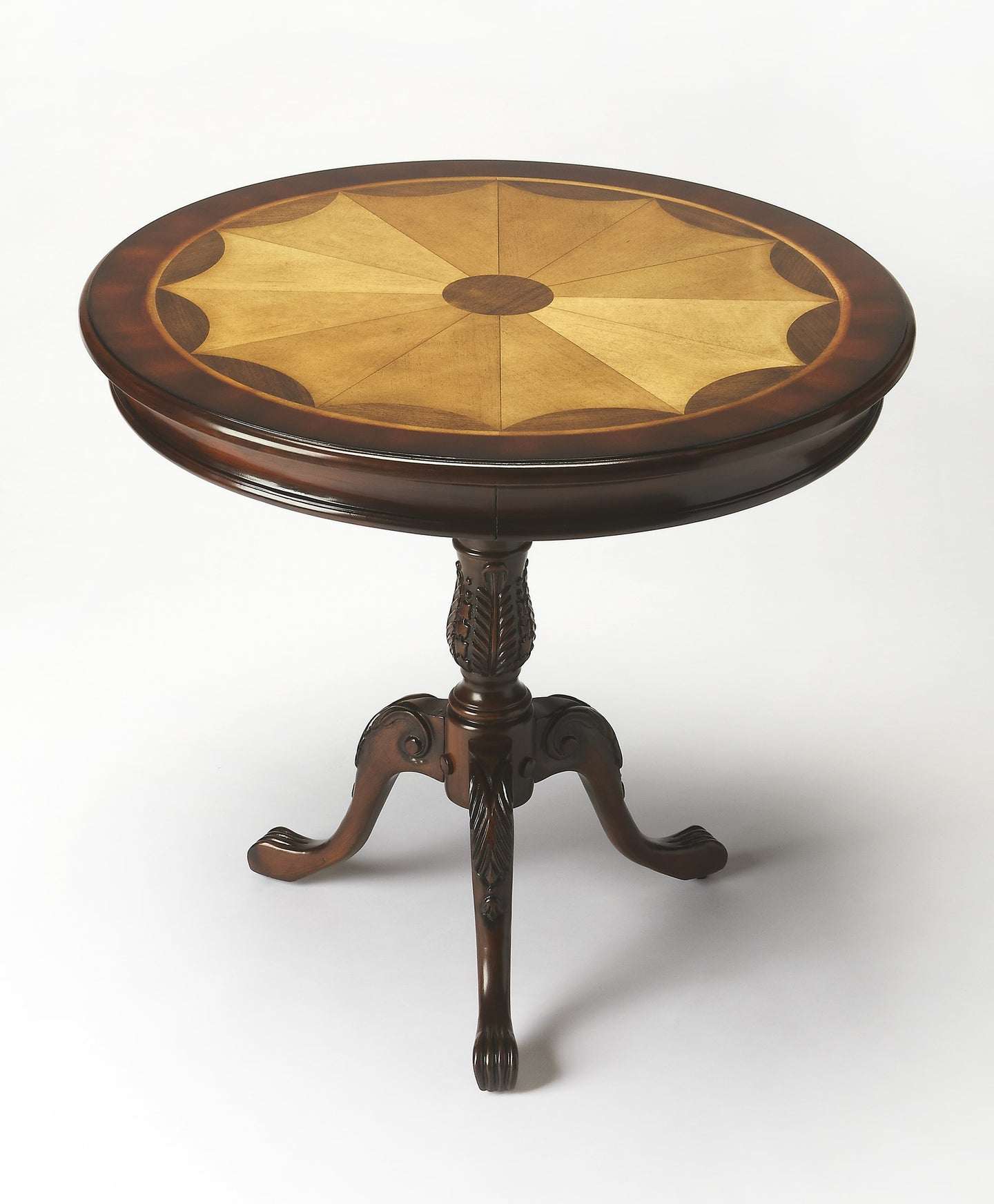 Carissa Plantation Cherry Round Pedestal Table by Butler Specialty Company 0533024