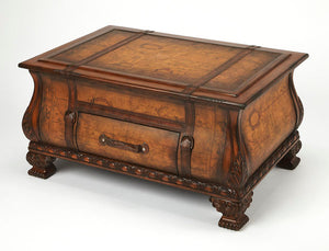 Vasco Old World Map Bombe Trunk Table by Butler Specialty Company 0553070
